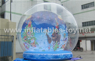 Life Size Snow Globe Clear Inflatable Dome for Christmas Live Show TY-007