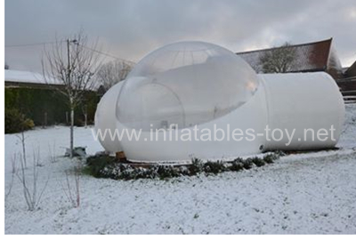 Hoting Sales Two Tunnel Clear Inflatable Bubble Tent for Outdoor Camping Hotel