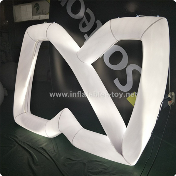 Customer Made Inflatable Logo with LED lights