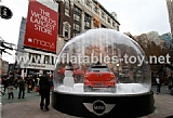 Clear PVC Snow Globe Christmas Dome for Car Show Advertising Display TY-009
