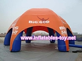 Inflatable spider dome air columns for promotion event