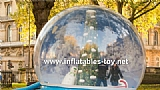 Inflatable Snow Globe with Christmas Tree