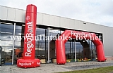 Bespoke Advertising Inflatable Regiobank Arches
