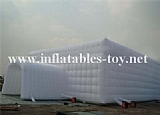 Large white inflatable party event marquee tent with window and tunnel entrance TY-2009