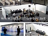Inflatable Office Cube Wall Divided Exhibition Stand