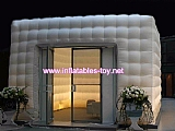 White black mobile inflatable cube room tent