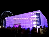 Inflatable Concert Hall made with blow up cubic tent