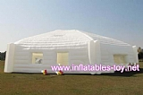 Outdoor huge white hexagon inflatable marquee for party