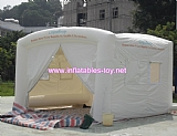 Outdoor mobile temporary white inflatable car cover