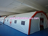 Inflatable resuce tent for emergency hospital first aid