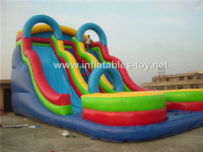 Three sides gaint inflatable slide,CLI-1025