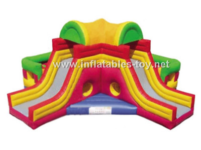 Two side inflatable slide,CLI-1018