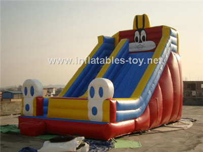 Clown show inflatable slide,circus time inflatable slide,CLI-1013