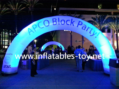 Inflatable Arch Road for Lighting Running Race Event