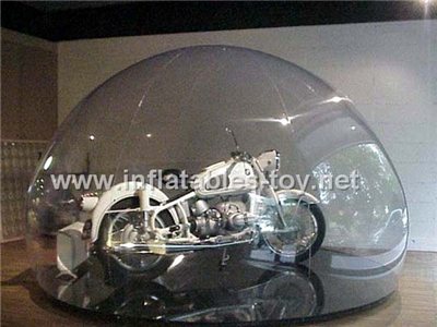Clear inflatable dome for car cover snow globe