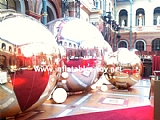 Christmas Decoration Golden Mirror Balls for Event Party Show