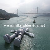 Giant Inflatable Shape Model on Water for Art Festival